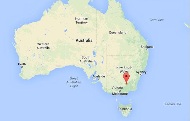 Yackandandah Australia map